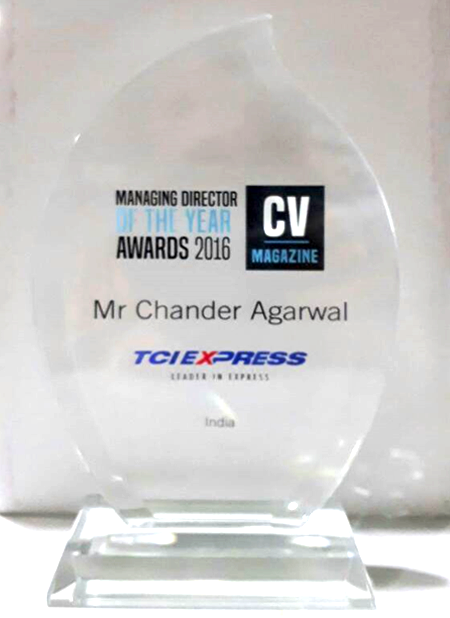Managing Director of the Year- 2016 by CV Magazine, United Kingdom